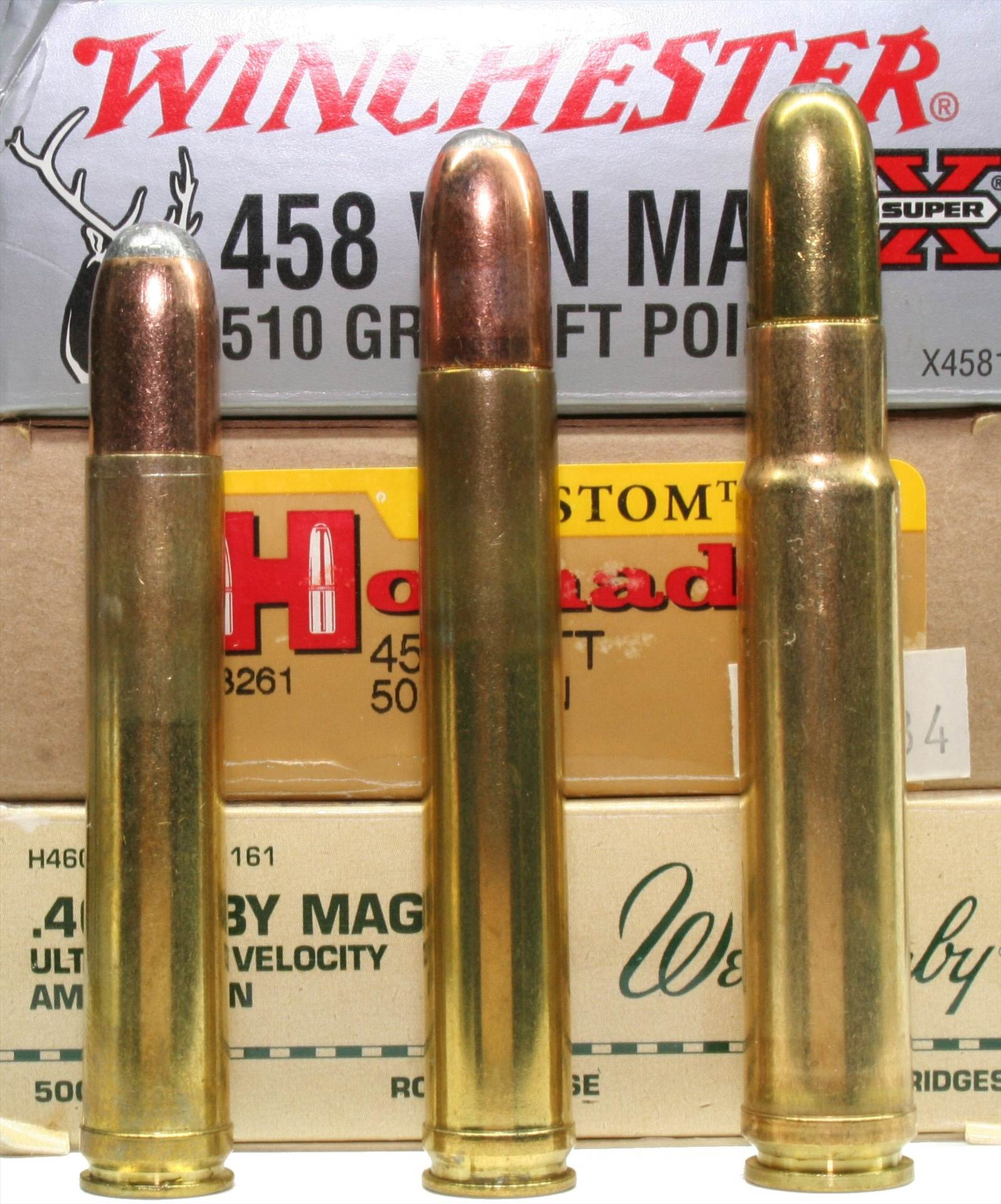 Trio-of-458cartridges.jpg - Trio of .458s.... Lovin' the big boom! by Wild Bill Hiccup